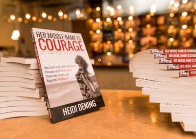 Heidi Dening / Speaker Author Educator / Her Middle Name is Courage Book 32