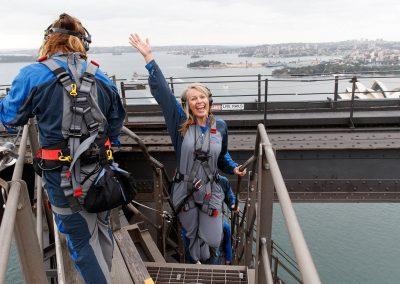 Heidi Dening reaches the summit