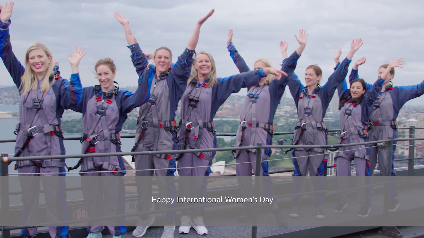 International Women's Day Bridge Climb